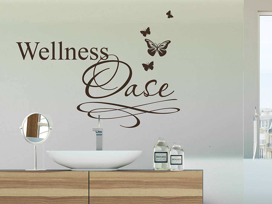 Badezimmer Tattoos Wandtattoo Wellness Oase Mit Schmetterlingen