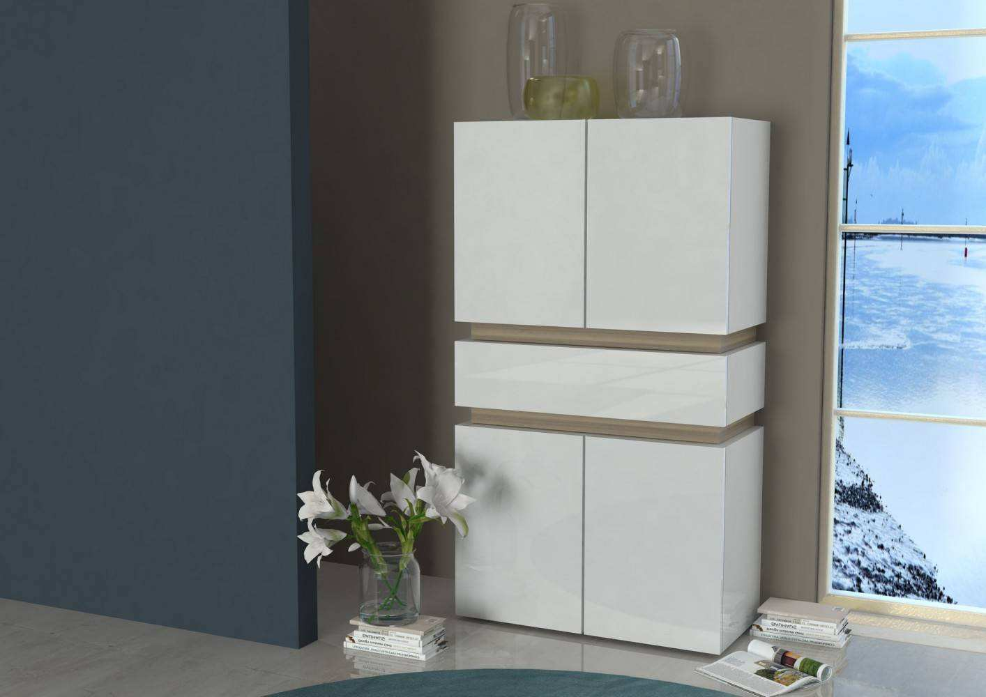 Highboard Modern Tecnos athena Highboard Sideboard Schrank Vitrine