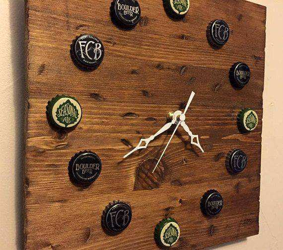 Selfmade Wohnideen Custom Upcycled Beer Cap Clock You Provide Caps by