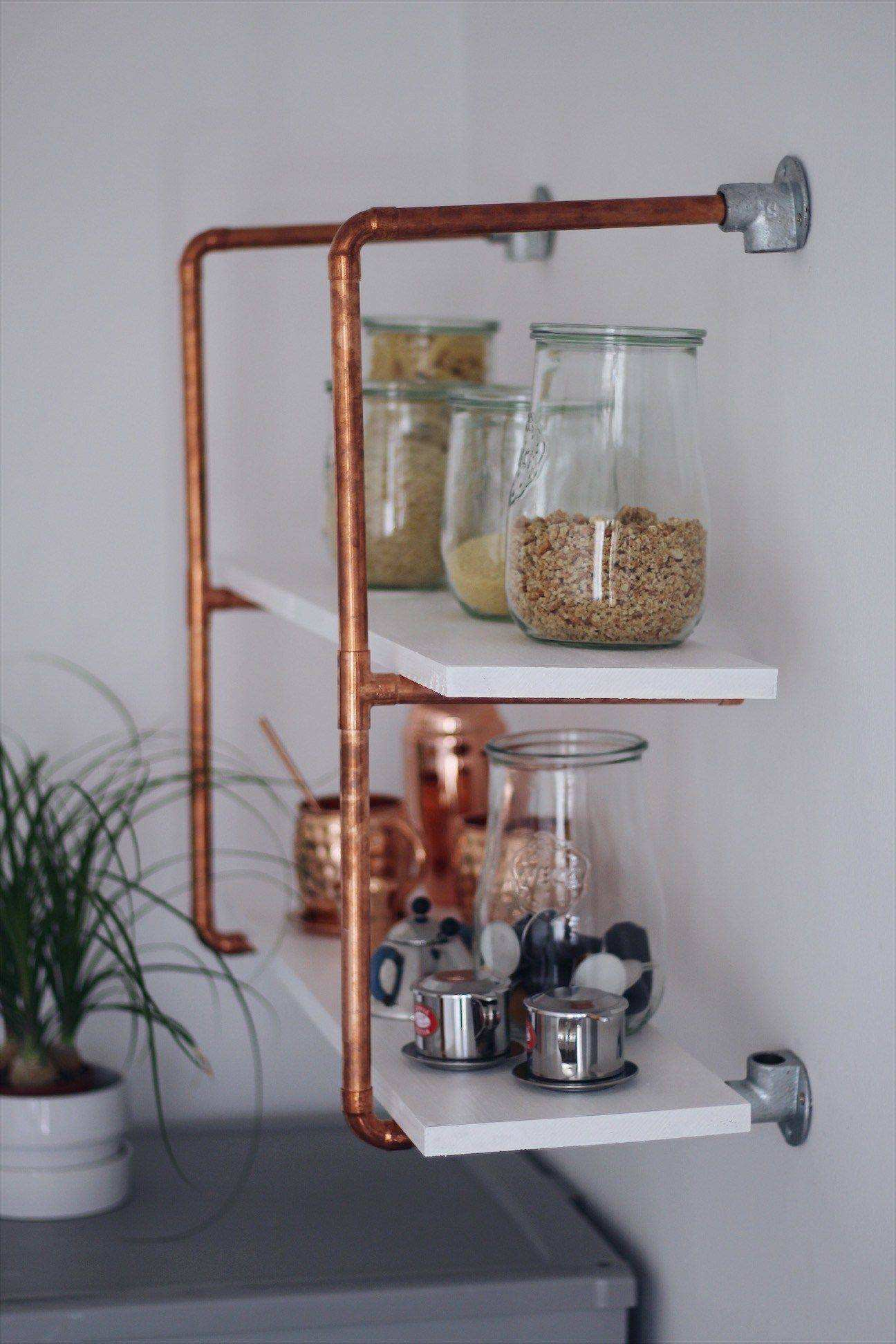 Selfmade Wohnideen Diy for Your Selfmade Copper Shelf