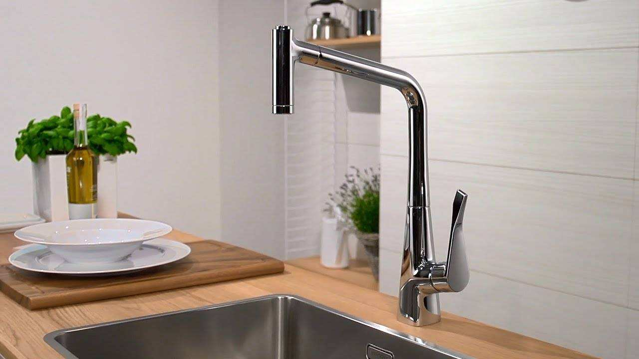Www Hansgrohe De Hansgrohe Metris Single Lever Kitchen Mixer 320